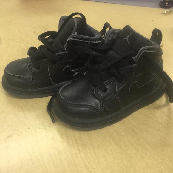new product 1739c ec807 Black toddler Jordan 1's